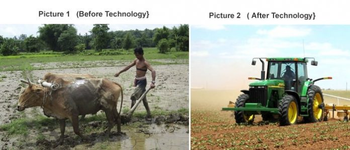 Animal Plowing I s Replaced By Tractors