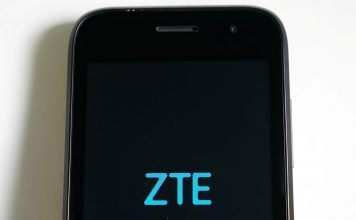 A ZTE smart phone is pictured in this illustration