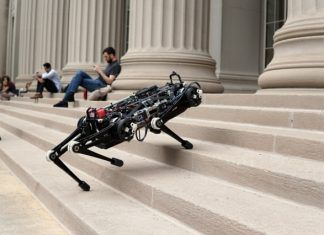 A Blind Robot Ascends the Stairs Without Seeing Them